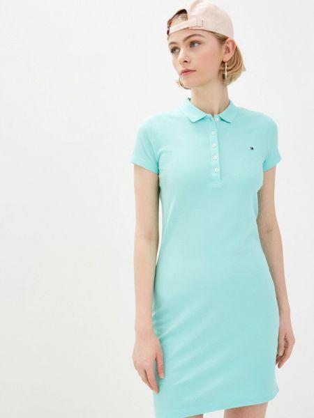Платье бирюзовый футболка Tommy Hilfiger