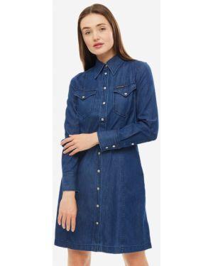 Платье с воротником на кнопках Calvin Klein Jeans