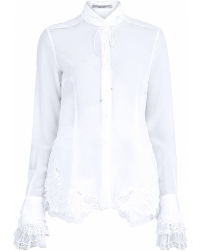 Блузка приталенная с завязками Ermanno Scervino