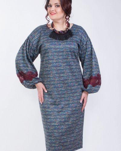 Голубое вязаное платье Wisell