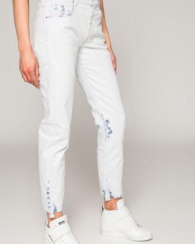 Прямые джинсы с карманами на пуговицах Diesel