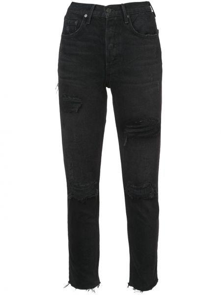 Czarne jeansy bawełniane Grlfrnd