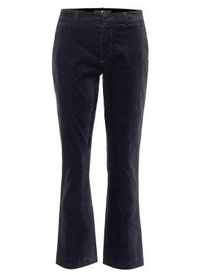 Ватные хлопковые синие укороченные брюки 7 For All Mankind