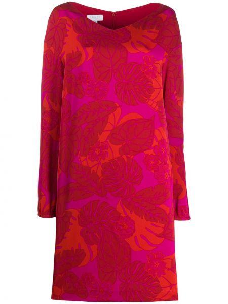 Платье миди с принтом - красное Escada Sport