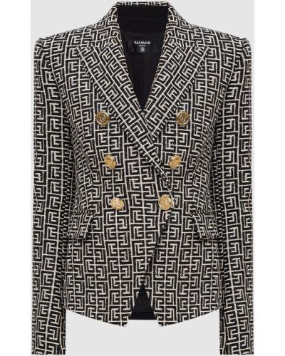 Пиджак двубортный - бежевый Balmain