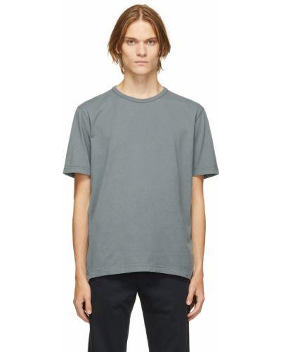 T-shirt bawełniana - niebieska Norse Projects