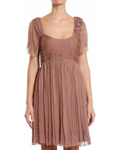Платье из вискозы - бежевое Scervino Street