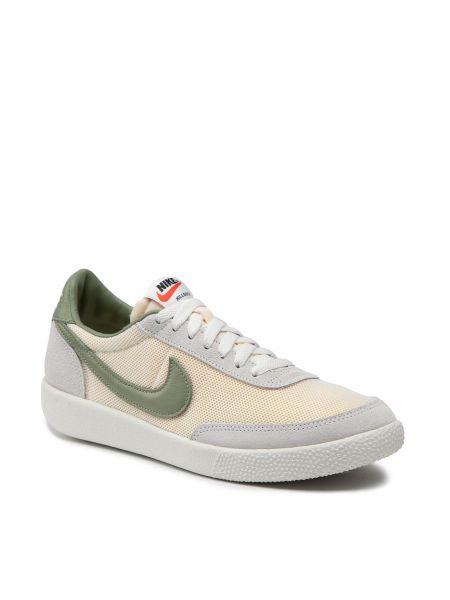 Beżowe półbuty zamszowe Nike