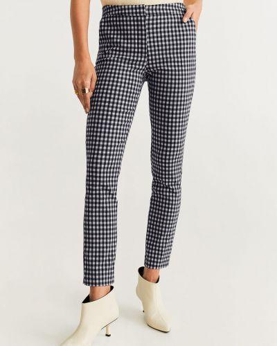 Spodnie z haftem skromny Mango