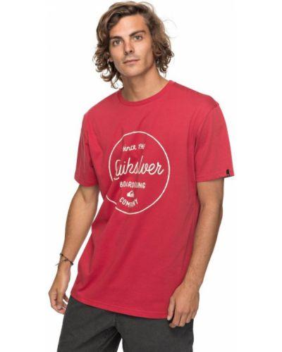 Красная футболка Quiksilver