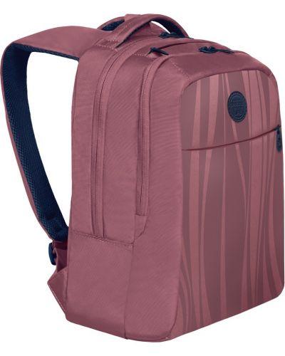 Текстильный розовый ранец с карманами на бретелях Grizzly