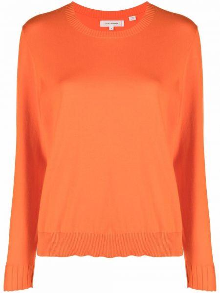 Хлопковый оранжевый длинный свитер с длинными рукавами Chinti And Parker