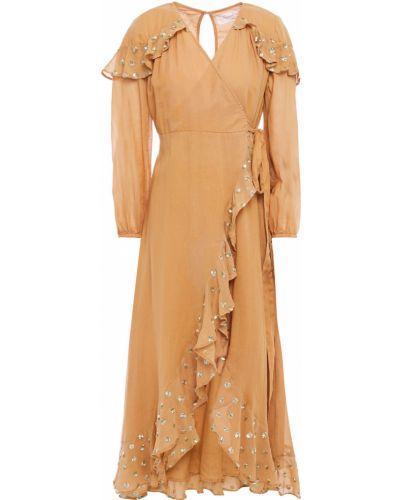 Хлопковое пляжное платье миди с пайетками Sundress