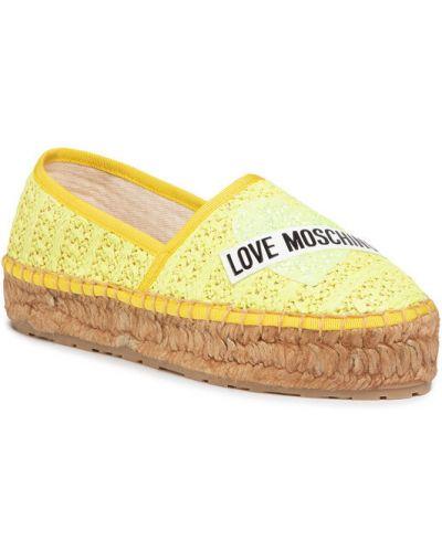 Żółte espadryle Love Moschino