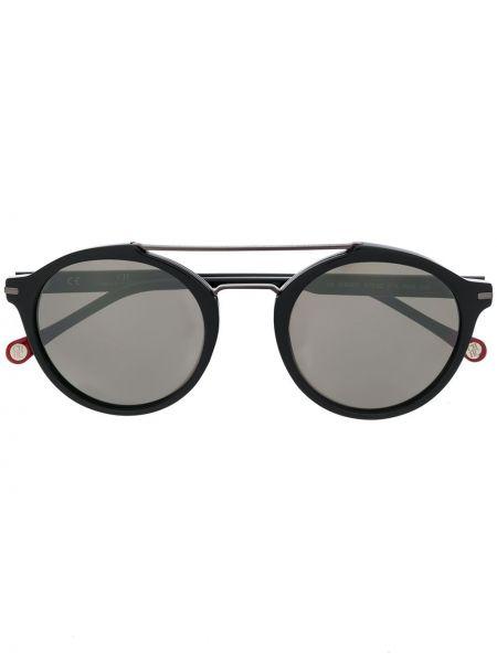 Прямые черные солнцезащитные очки круглые металлические Ch Carolina Herrera