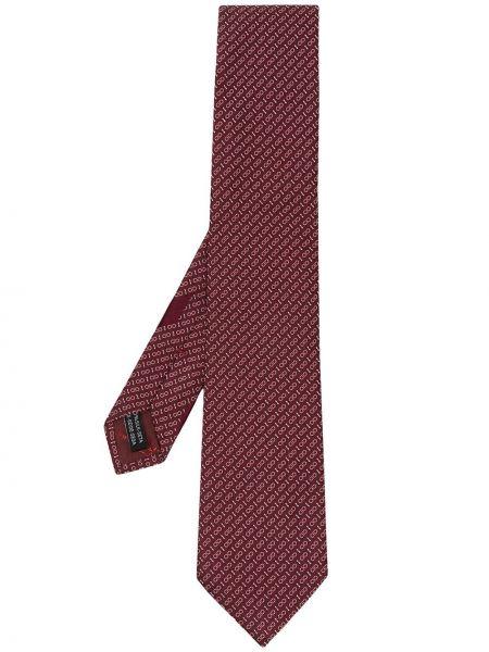 Шелковый красный галстук Salvatore Ferragamo