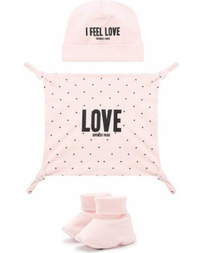 Розовая шапка хлопковая Givenchy