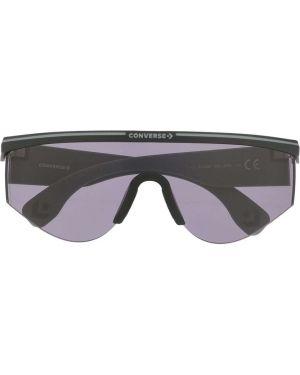 Прямые муслиновые черные солнцезащитные очки Converse