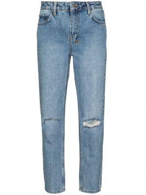 Niebieskie jeansy z paskiem Ksubi