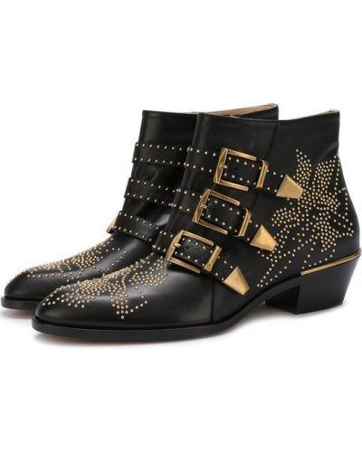 Ботинки с заклепками с пряжкой Chloé