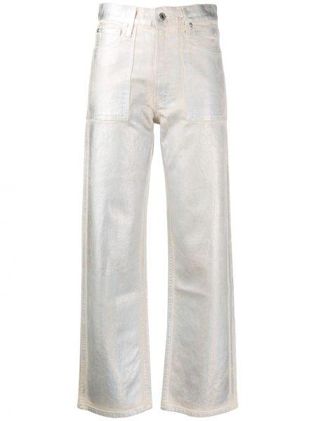 Прямые джинсы на пуговицах с карманами Helmut Lang