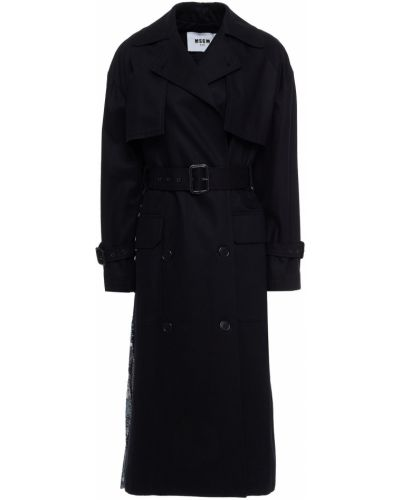 Черное пальто на пуговицах Msgm