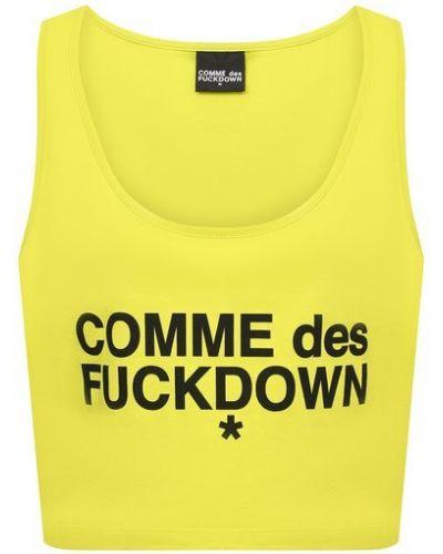 Черный трикотажный кроп-топ Comme Des Fuckdown