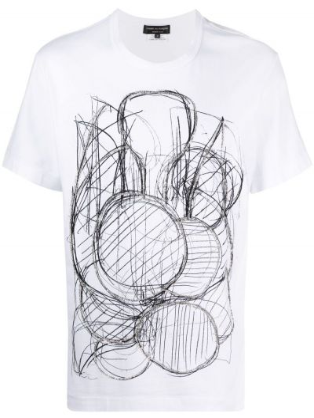 T-shirt krótki rękaw bawełniany z printem Comme Des Garcons Homme Plus