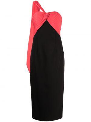 Плиссированное платье - черное Marchesa Notte