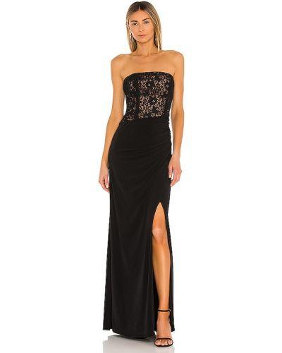 Czarna sukienka koronkowa bawełniana Bcbgmaxazria
