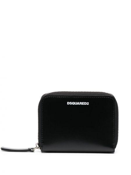 Czarny portfel skórzany Dsquared2