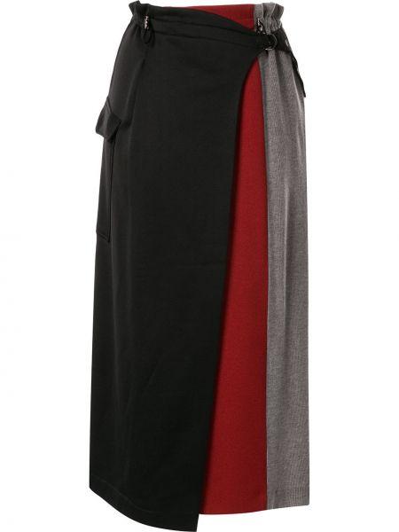 Прямая юбка миди на резинке в рубчик Frei Ea