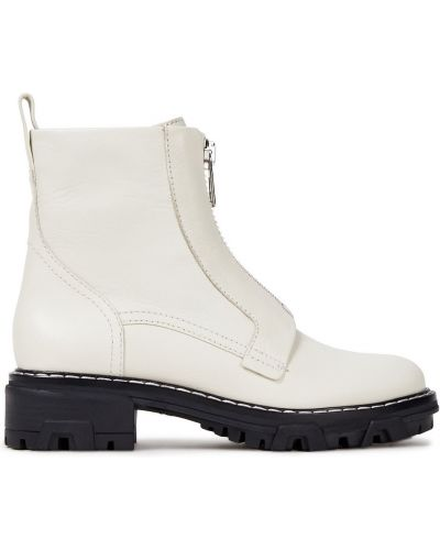 Białe ankle boots skorzane Rag & Bone