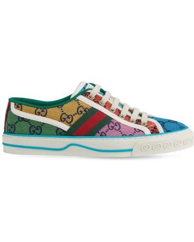 Sneakersy sznurowane koronkowe Gucci