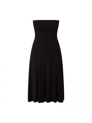 Czarna sukienka rozkloszowana z wiskozy Lascana