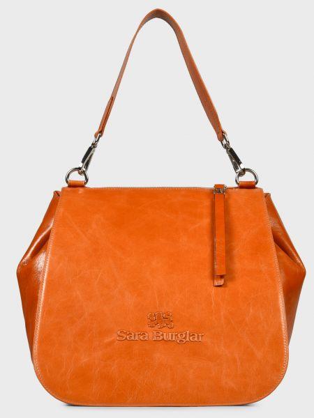 Кожаная сумка - коричневая Sara Burglar