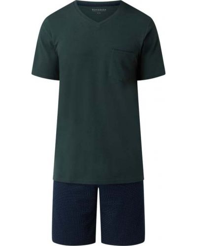 Piżama bawełniana - zielona Schiesser