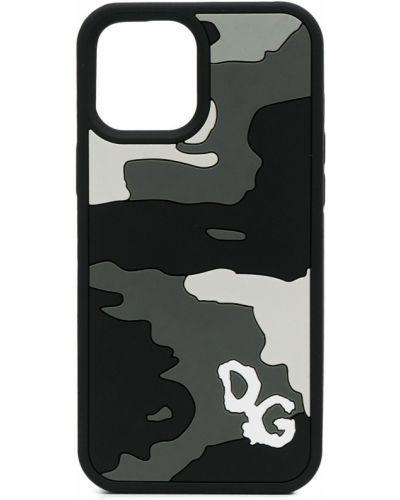 Czarne etui na okulary silikon Dolce And Gabbana