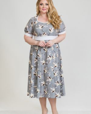 Летнее платье с поясом платье-сарафан Luxury