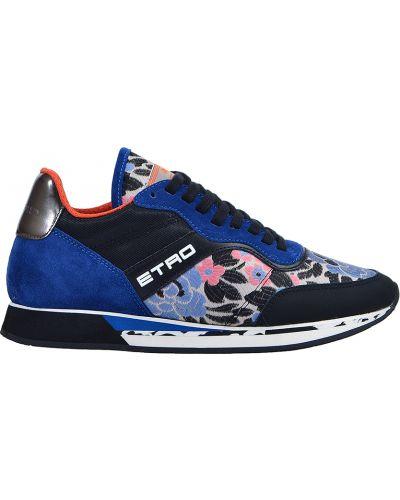 Замшевые кроссовки Etro
