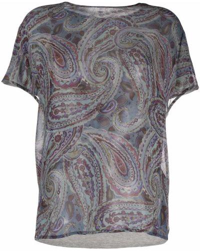 Серая блузка с короткими рукавами Luisa Cerano