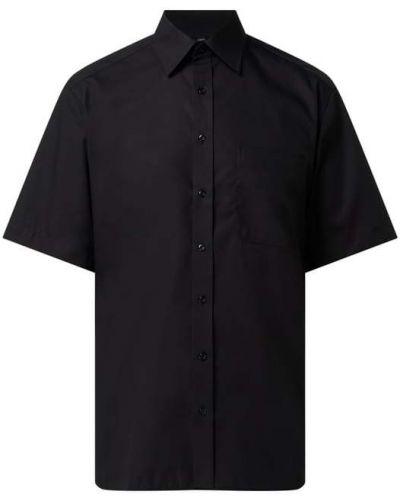 Czarna koszula krótki rękaw bawełniana Eterna