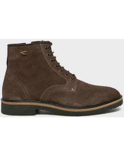 Кожаные ботинки замшевые на шнуровке Camel Active