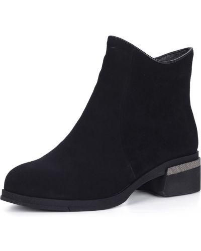 Черные ботинки на каблуке на молнии Respect