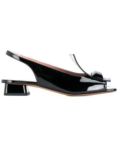Открытые черные босоножки на каблуке Rayne