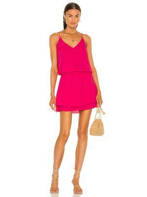 Розовое платье мини с подкладкой из крепа Krisa