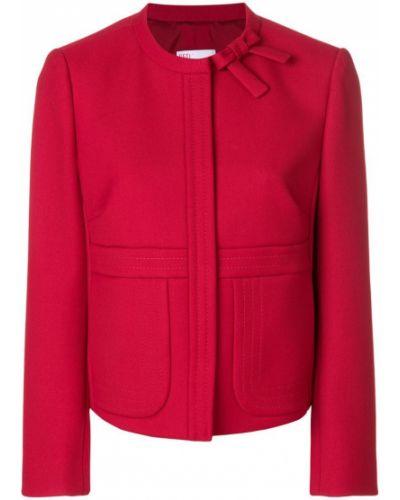 Пиджак с бантом без воротника Red Valentino