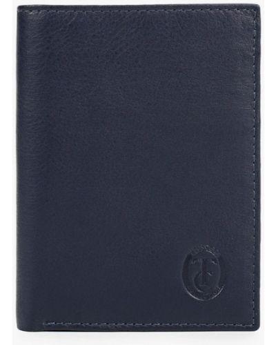 Кожаный синий кошелек Trussardi Collection