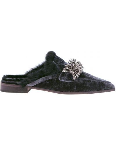 Мюли на каблуке кожаные Lorena Antoniazzi