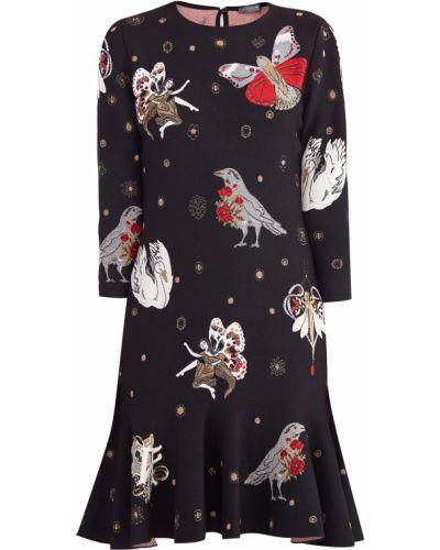 Платье мини на пуговицах с оборками Alexander Mcqueen
